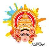 Celebração feliz de Navratri ilustração stock