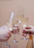 Celebração grande com champanhe imagem de stock royalty free