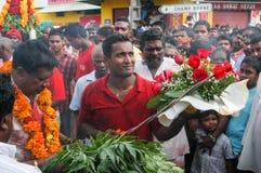 Celebração hindu de Pandiale em Saint Andre na reunião do La Imagens de Stock