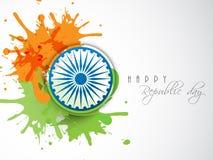 Celebração indiana feliz do dia da república Imagem de Stock