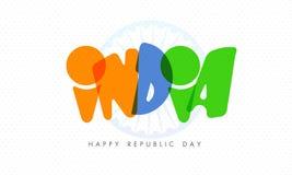 Celebração indiana feliz do dia da república Imagens de Stock Royalty Free