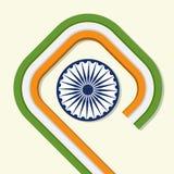 Celebração indiana feliz do dia da república Fotografia de Stock
