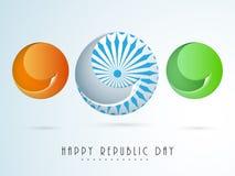 Celebração indiana feliz do dia da república com bola criativa Fotografia de Stock