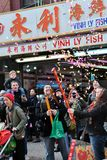 Celebração lunar do ano novo de Chinatown Imagem de Stock Royalty Free
