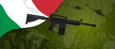 Celebração nacional do país da guerra e da luta do setor da defesa do exército da potência militar de Itália com o lutador de jat ilustração stock