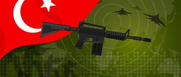 Celebração nacional do país da guerra e da luta do setor da defesa do exército da potência militar de Turquia com o lutador de ja ilustração stock