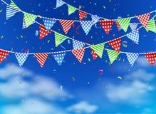 Celebração no céu azul Fotografia de Stock