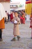 Celebração no Trongsa Dzong, Trongsa, Butão Fotos de Stock