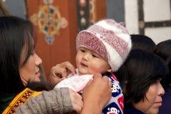 Celebração no Trongsa Dzong, Trongsa, Butão Imagens de Stock