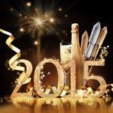 Celebração nova da véspera de 2015 Yeas Fotos de Stock