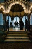 Celebração Omin do ano novo do fumo de Schlossplatz dos fogos-de-artifício de Estugarda Foto de Stock Royalty Free