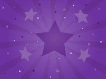 Celebração roxa Starburst Foto de Stock Royalty Free