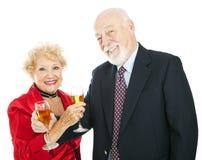 Celebração sênior de Champagne Fotografia de Stock