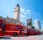 Celebrações 2011 do dia dos lutadores de incêndio de Malaysia Foto de Stock