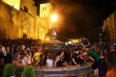 celebrações de uma cidade de Soriano fotos de stock royalty free