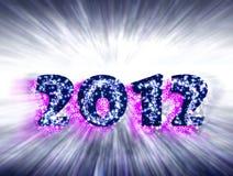 Celebrações do ano novo 2012, Imagem de Stock Royalty Free