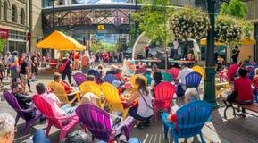Celebrações do dia de Canadá, Calgary Fotografia de Stock Royalty Free
