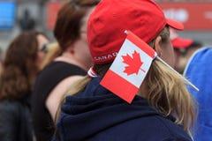 Celebrações do dia 2017 de Canadá em Londres imagem de stock