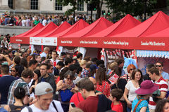 Celebrações do dia 2017 de Canadá em Londres Foto de Stock Royalty Free