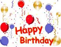Celebrações do feliz aniversario ilustração stock