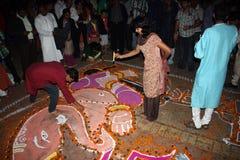 Celebrações do festival de Diwali foto de stock