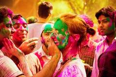 Celebrações do festival de Holi na Índia imagens de stock royalty free