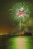 Celebrações do major do onFesta de Castell de Foc Fotos de Stock