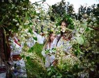 Celebrações eslavos tradicionais de Ivana Kupala Imagem de Stock Royalty Free