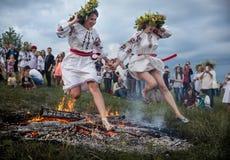 Celebrações eslavos tradicionais de Ivana Kupala Imagens de Stock Royalty Free
