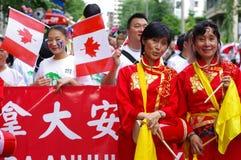 Celebrações multiculturais do dia de Canadá imagens de stock