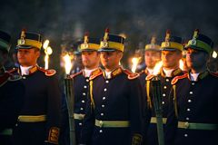 Celebrações romenas do dia do exército Imagens de Stock Royalty Free