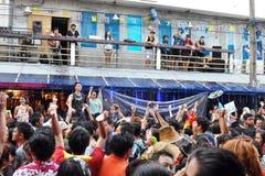 Celebrações tailandesas do ano novo em Banguecoque Fotografia de Stock Royalty Free