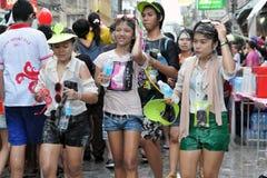 Celebrações tailandesas do ano novo em Banguecoque Imagens de Stock Royalty Free