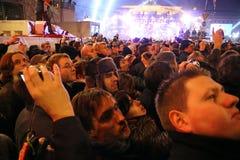 Celebra??es do ano novo em Berlim, Alemanha Fotos de Stock Royalty Free