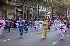 Celebra Japón 14 de Buenos Aires Imágenes de archivo libres de regalías