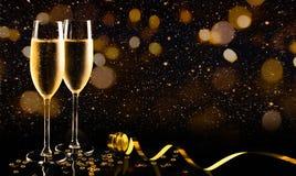 Celebra??o do ano novo com champanhe imagem de stock