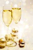 Celebra??o do ano novo com champanhe imagem de stock royalty free