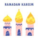 Celebración árabe Mubarak de la religión musulmán del Islam de la mezquita del kareem del Ramadán stock de ilustración