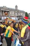 Celebración 2010, cuadrado de la FIFA de Trafalgar Imágenes de archivo libres de regalías