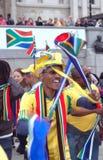 Celebración 2010, cuadrado de la FIFA de Trafalgar Fotografía de archivo
