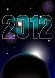 Celebración 2012 del Año Nuevo Imagen de archivo libre de regalías