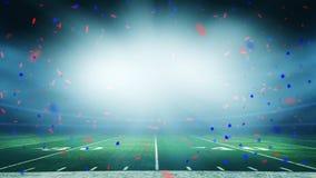 Celebración americana del triunfo del estadio de fútbol foto de archivo
