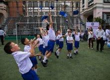 Celebración asiática de los estudiantes foto de archivo libre de regalías