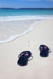 Celebración australiana de las vacaciones de la playa de las correas de la bandera Imagen de archivo