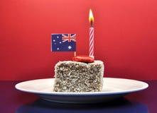 Celebración australiana del día de fiesta para el día de Australia, el 26 de enero, o el día de Anzac, 25 de abril. Imagen de archivo libre de regalías