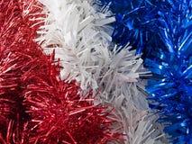 Celebración blanca y azul roja Foto de archivo libre de regalías