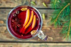 Celebración caliente tradicional del día de fiesta del alcohol del grog fotografía de archivo