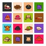 Celebración carnaval del partido del complemento del sombrero de diverso día de fiesta para el ejemplo del vector de la ropa del  Imagen de archivo