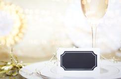 Celebración Champagne Meal Background Foto de archivo libre de regalías