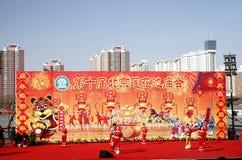 Celebración china 2010 del Año Nuevo Imágenes de archivo libres de regalías